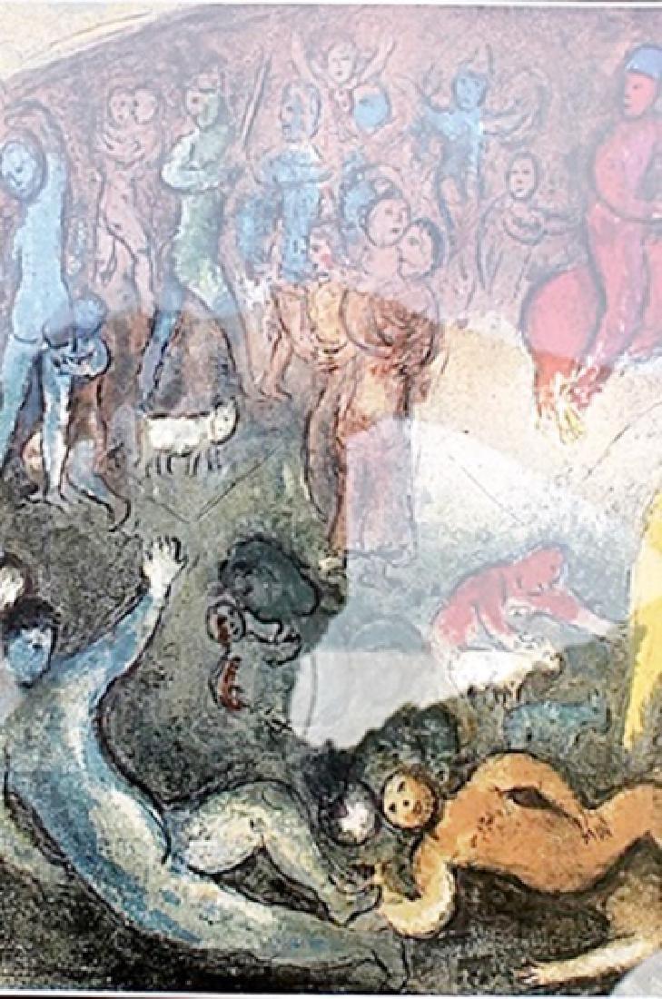 Enlevement de Chloe - Marc Chagall - Lithograph