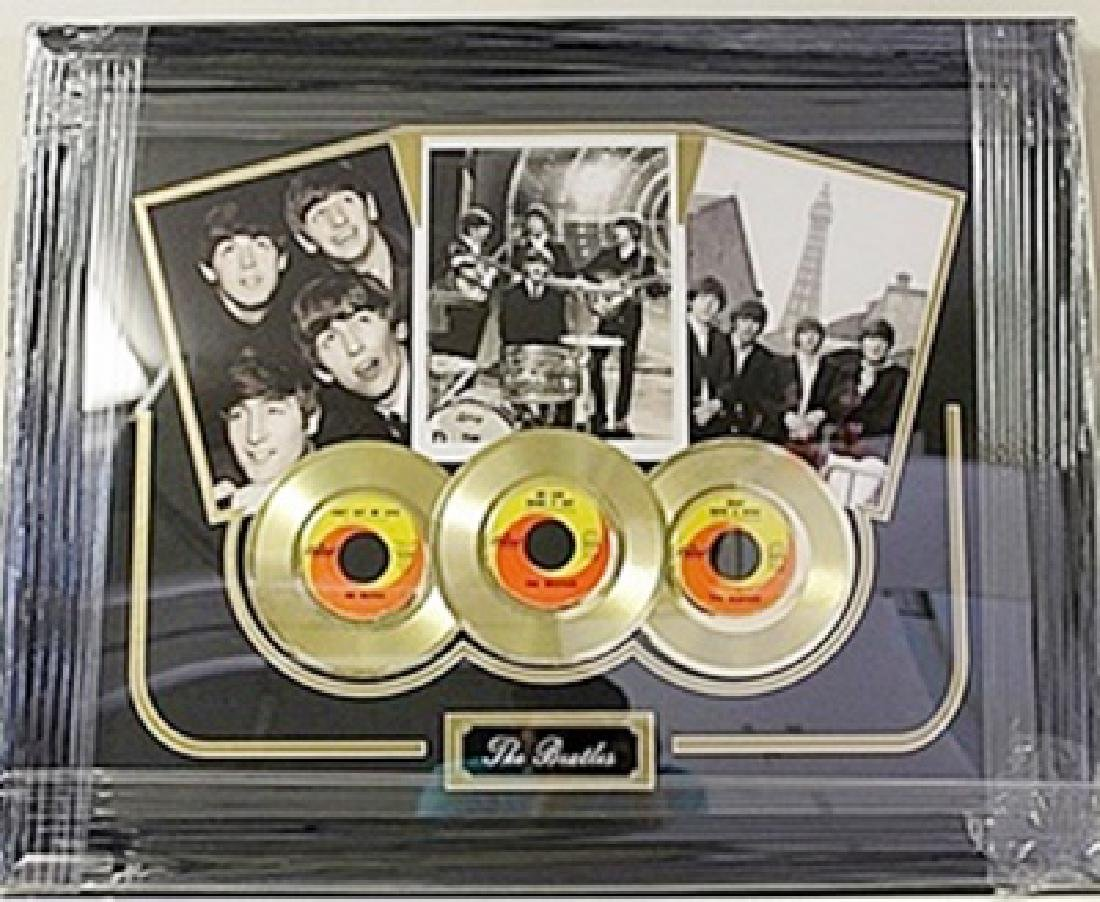 The Beatles Giclee with 3 Mini Gold Albums HE5060