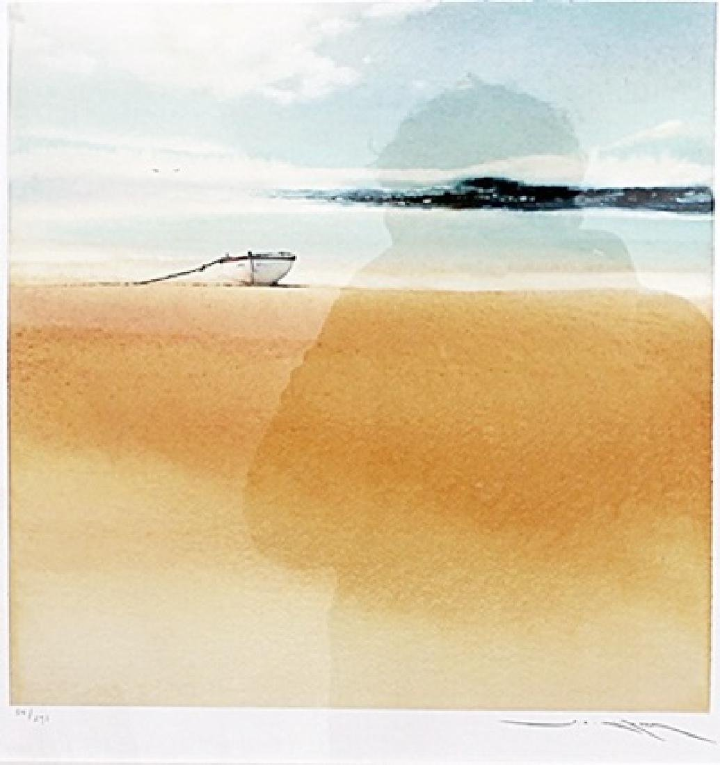 Solo Wooden Boat - Lithograph