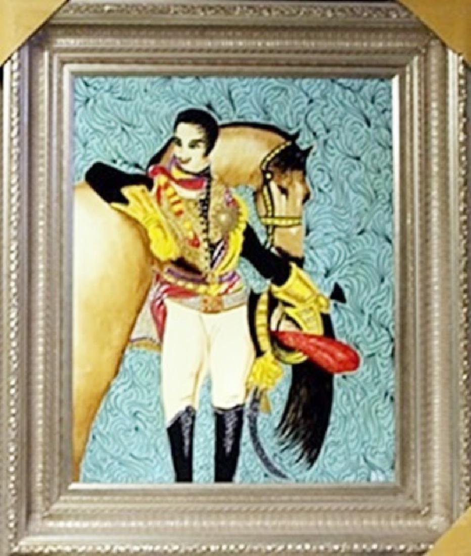 "Original Oil on Panel ""King""   William Verdult"