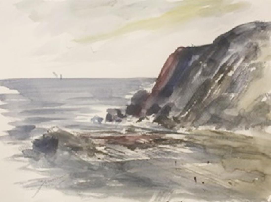 "Original Watercolor on Paper ""Dirt Dock"" by Michael"