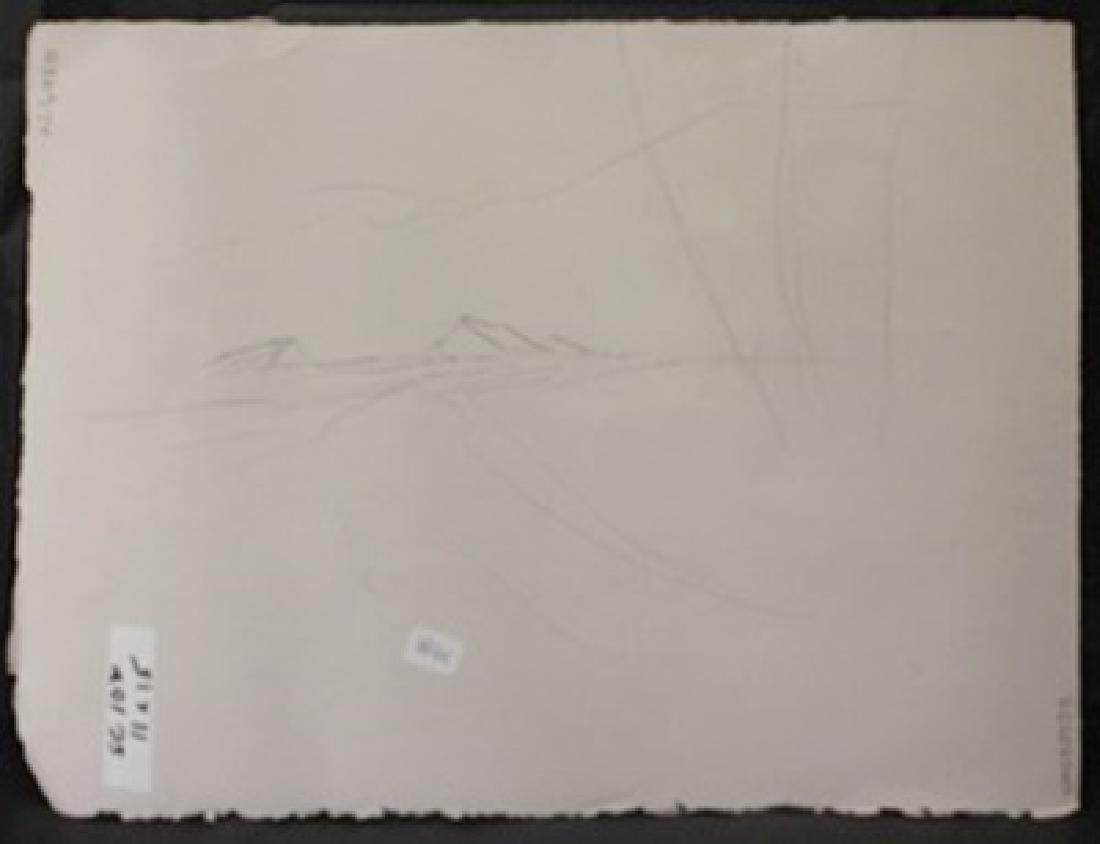 "Original Watercolor on Paper ""Dirt Dock"" by Michael - 3"