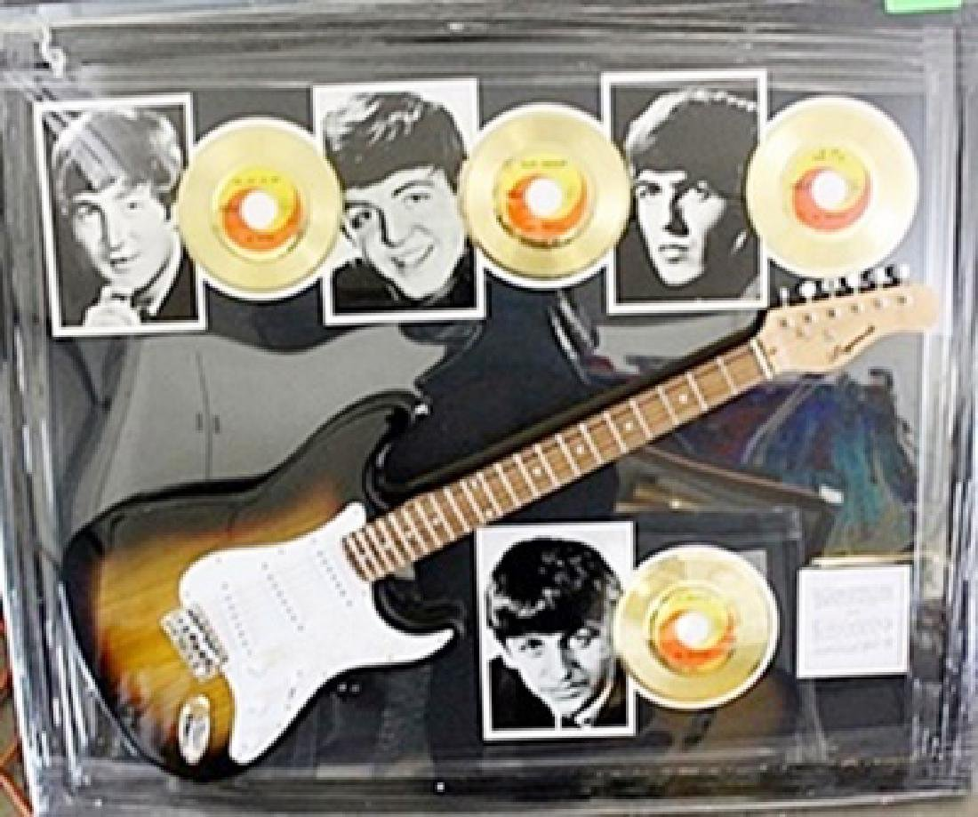 The Beattles Signed Guitar & Memorabilia
