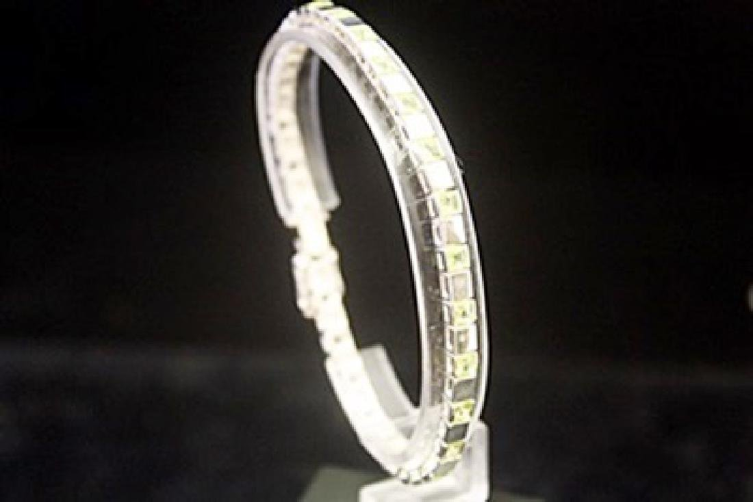 Elegant Peridots Silver Bracelet