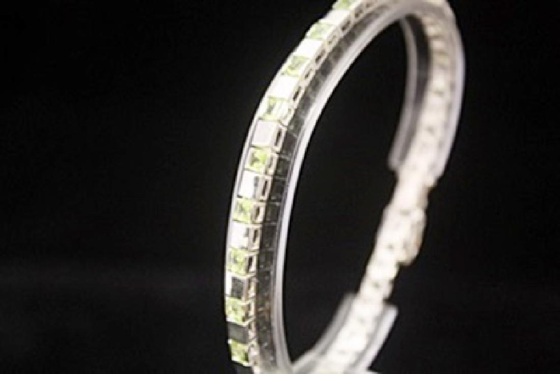 Elegant Peridots Silver Bracelet - 3