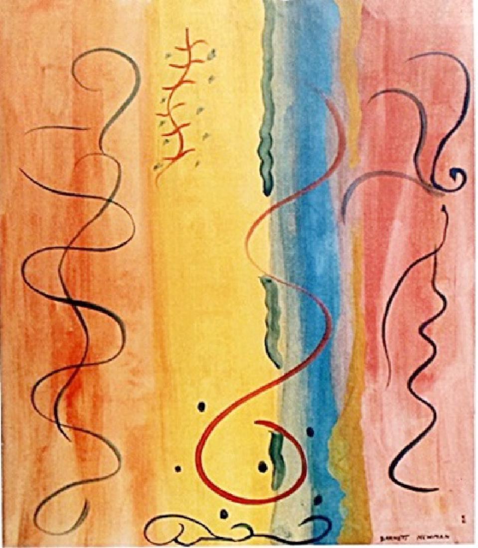 Penumbra - Barnett Newman - Oil On Paper