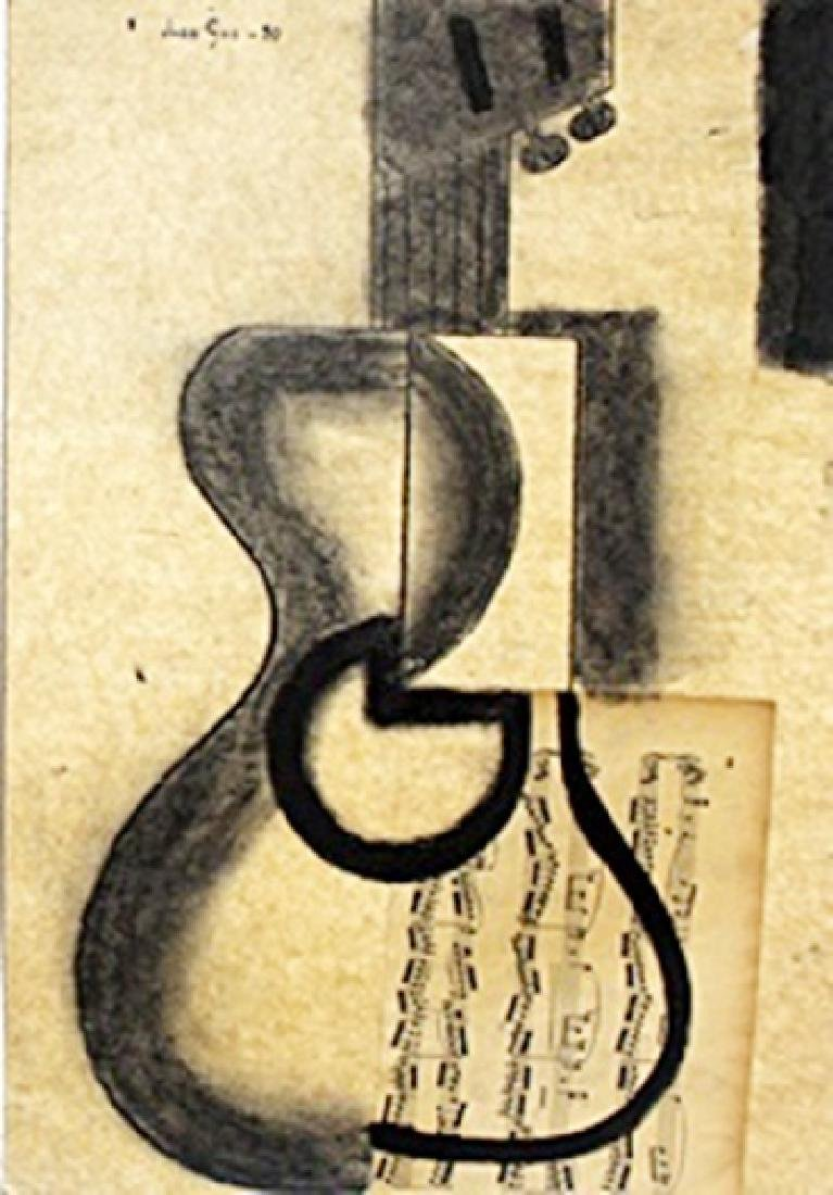 Oil Painting Collage on Paper - Juan Gris