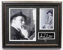 Frank Sinatra With Authograph