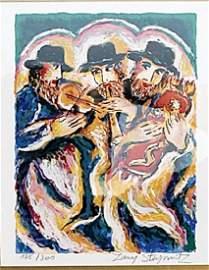 Celebration of the Torah - Zamy Steynovitz -Lithograph