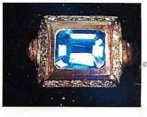 Ladys silver topaz ring