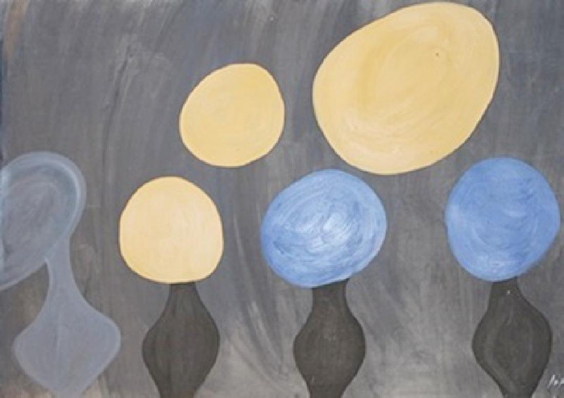 Globes - Jean Hans Arp - Oil On Paper
