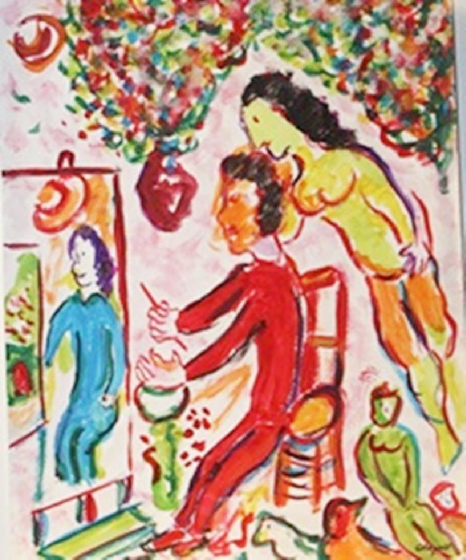 The Painter - Marc Chagall - Watercolor On Paper