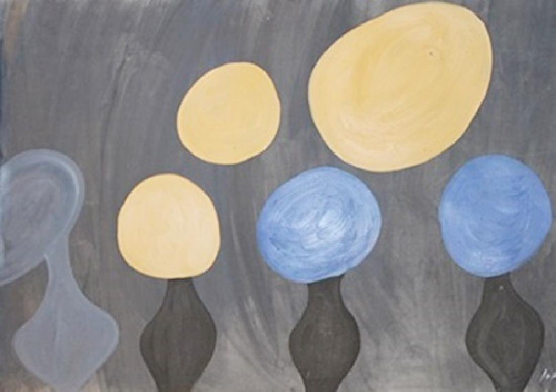Globes - Jean Hans Arp - Oil On Paper