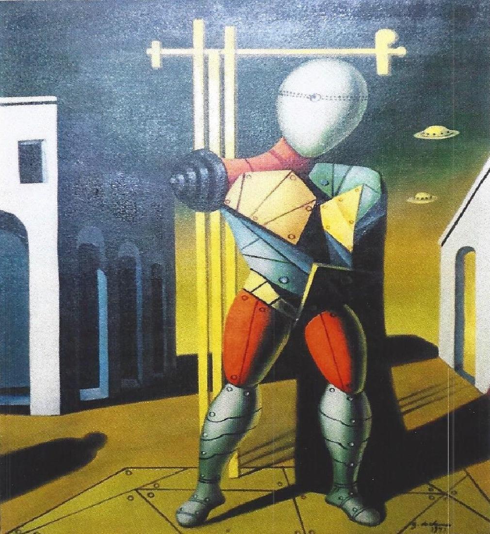 The Gladiator - Giorgio De Chirico - Oil On Canvas