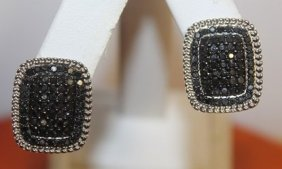 Exquisite Black Diamond Earrings