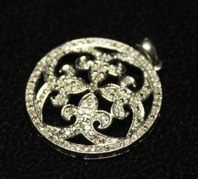 Very Fancy 14kt White Gold Diamond Pendant