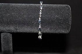 Lavish Sapphire Silver Bracelet