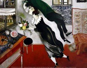 "Print ""birthday"" After Marc Chagall"