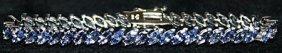 Gorgeous Tanzanite Sterling Silver Bracelet.