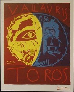 1956 Vallavris Lithograph - Picasso