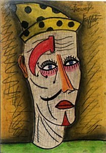 The Clown - Pastel Drawing On Paper - Bernard Buffet
