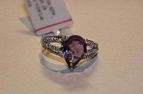 Exquisite Amethyst & Diamond Ring
