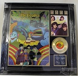 The Beatles Hologram Giclee With Stamps & Mini Gold