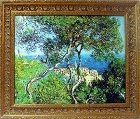 """Hand Embellished Giclee On Canvas """"bordighera - 1884"""""""