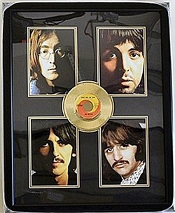 The Beatles Four Giclees With Gold Record