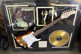 Stevie Ray Signed Guitar & Memorabilia