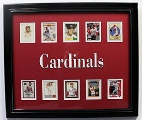 10 Cards With Licensed Photo Of The St. Louis Cardinals