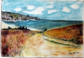 Pastel Painting On Paper By Claude Monet