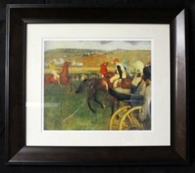 """Lithograph """"at The Races"""" By Edgar Degas"""