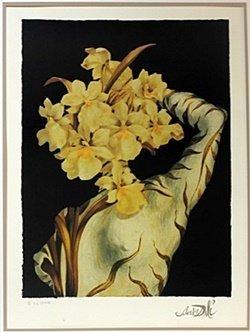 "Lithograph ""surrealist Flower"" After Salvador Dali"