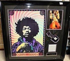 Jimi Hendrix Picture With Signature & Bio Ar5562