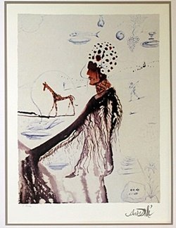 "Lithograph ""entrepreneur"" After Salvador Dali"