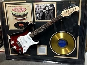 Priceless Rolling Stones Signed Guitar & Memorabilia