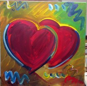 Peter Max - Hearts Oil