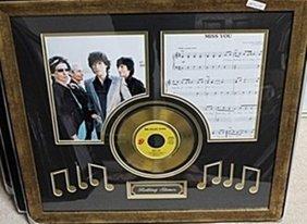 "Rolling Stones ""miss You"" Gold Album Ar5698"