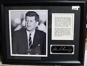 President John F. Kennedy Photo Ar5740