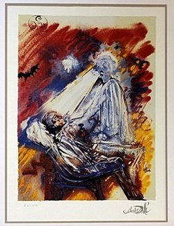"""Lithograph """"The Dentist"""" after Salvador Dali"""