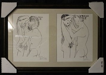Lithographs 2-in-1 by P.Picasso