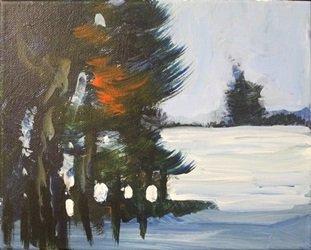 "Acrylic on Canvas ""Fresh Snow"" by Michael Schofield"