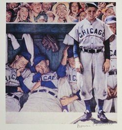 """Lithograph """"Dug Out"""" By Norman Rockwell"""