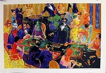 """""""The Players Table"""" after LeRoy Neiman"""