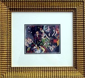 """Lithograph """"Roulette"""" by Leroy Neiman"""
