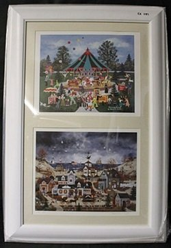 """Lithographs 2-in-1 """"Clowning Around"""" and """"Home Before"""