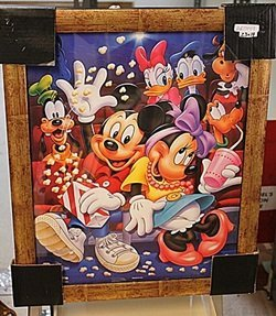 """Framed Lithograph """"Mickey & Crew Go To The Theatre"""""""