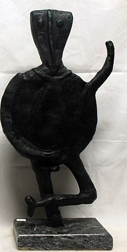 Patina Bronze Sculpture     Rufino Tamayo