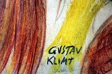 Pastel Painting on Paper Gustav Klimt - 2